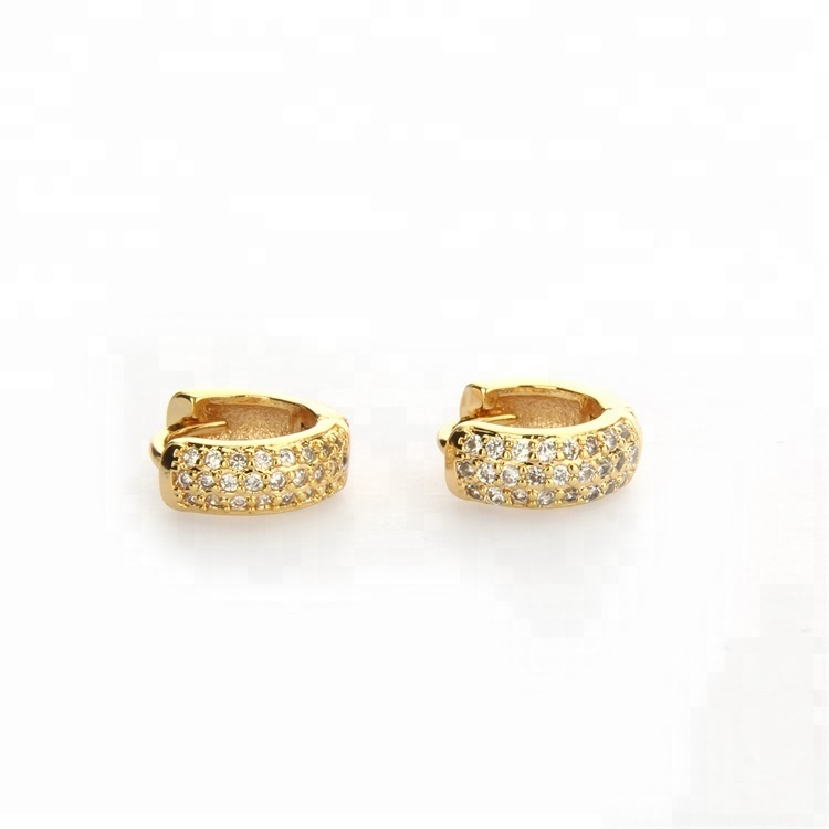 Golden plating zircon earring tiny and delicate for women on any occasions фото