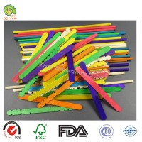 Kids Craft Colored Wood Craft Sticks Natural Wood Popsicle Sticks