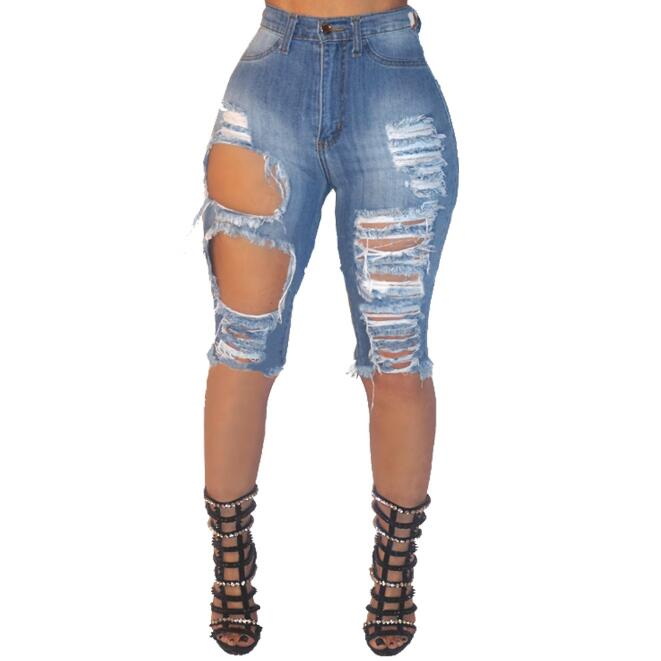 zm54164a Sexy lady fashion Shorts Women ripped Denim Shorts holes Jean Shorts For Girl