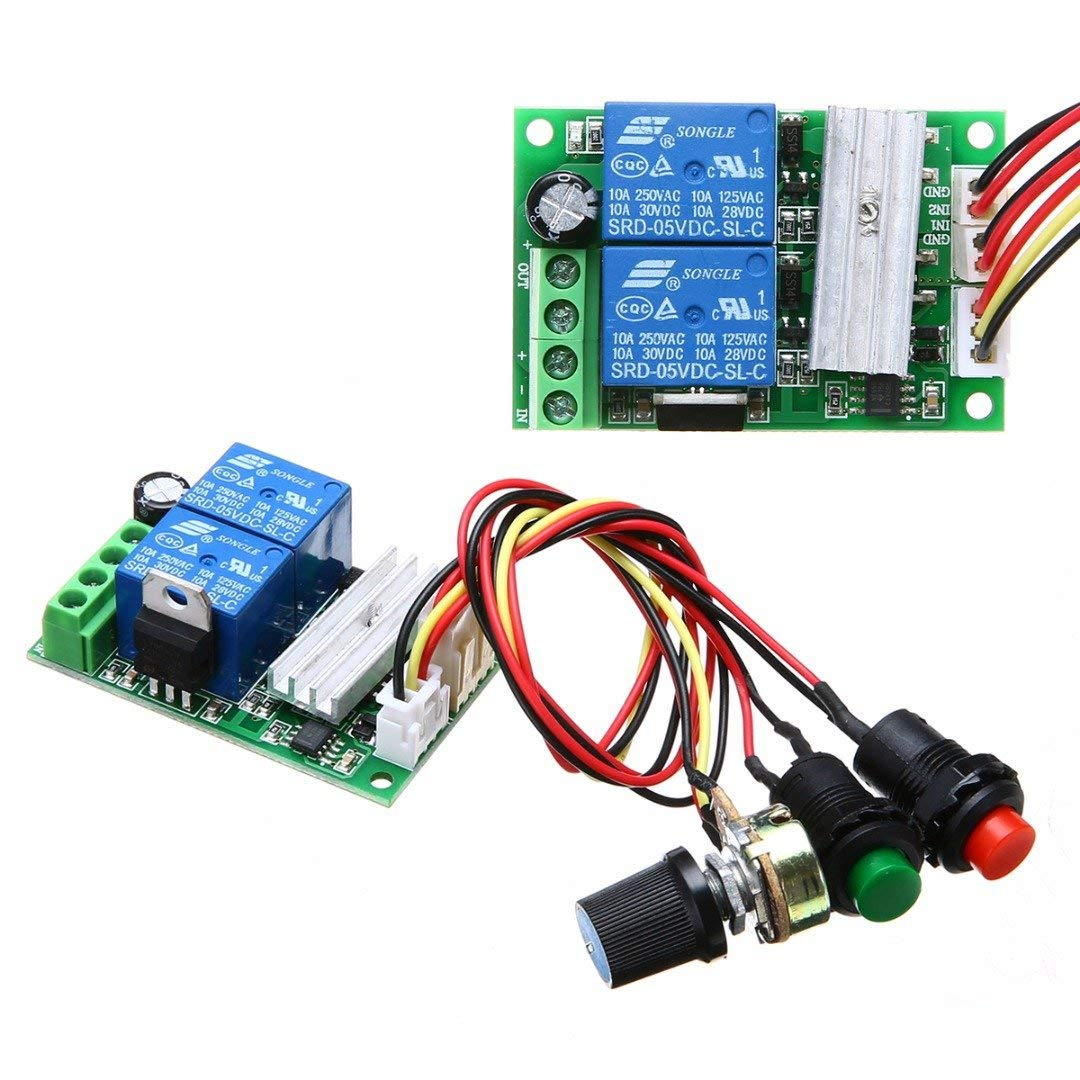 ERTIANANG 1 Set Universal DC 6V12V24V 3A Motor Speed Controller 573721mm Adjustable PWM RC Motor Speed Control Regulator Switch Mayitr