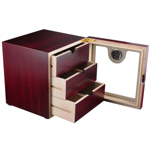 75 CT Small Cabinet Cigar Bars Humidor with Three Drawers