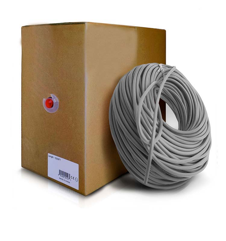 300m/Roll Bulk Cat6 Ethernet Cable 550Mhz 24AWG Full Copper Wire UTP Patch computer LAN cord
