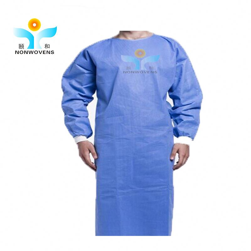 High protective reinforced sms surgical gown, disposable medical supply