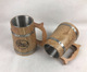 Vintage specail wooden beer mug with stainless steel