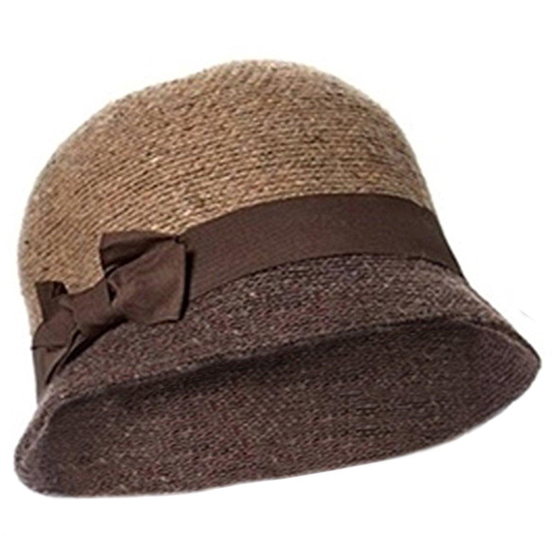 d743d5b8a4e Get Quotations · Winter Cloche Hat for Women Camel Cloche Hat 100% Wool  Twenties Style Bell Cloche