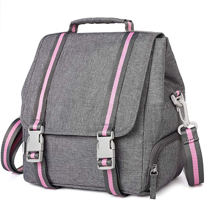New Fashion Multi Function Insulated Women Lunch Box Bag With Adjustable Shoulder Strap