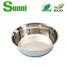 PET cartoon stainless slow feed dog bowl for outdoor activities
