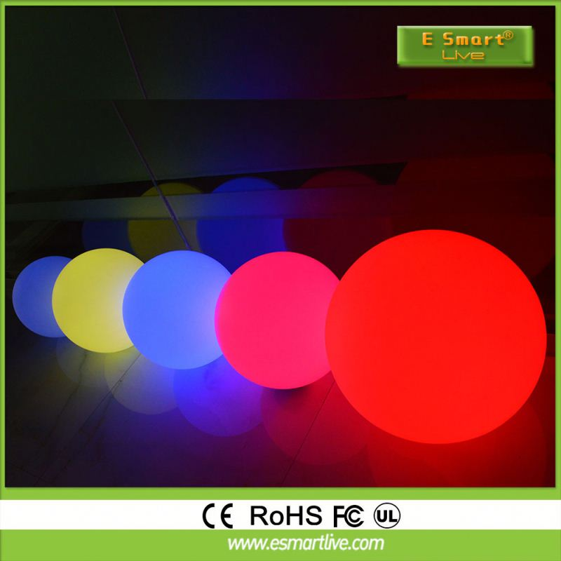 Rechargeable led ball/half mirror ball with motor /floating mirror ball