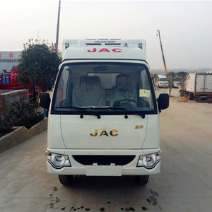 Factory Direct Sale JAC Left Hand Drive Frozen Food Transport Van Truck