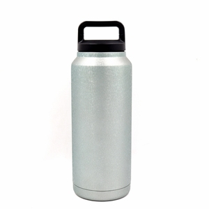 36 oz double wall 18/8 stainless steel powder coated water tumbler with plastic leak proof handle lid for sports