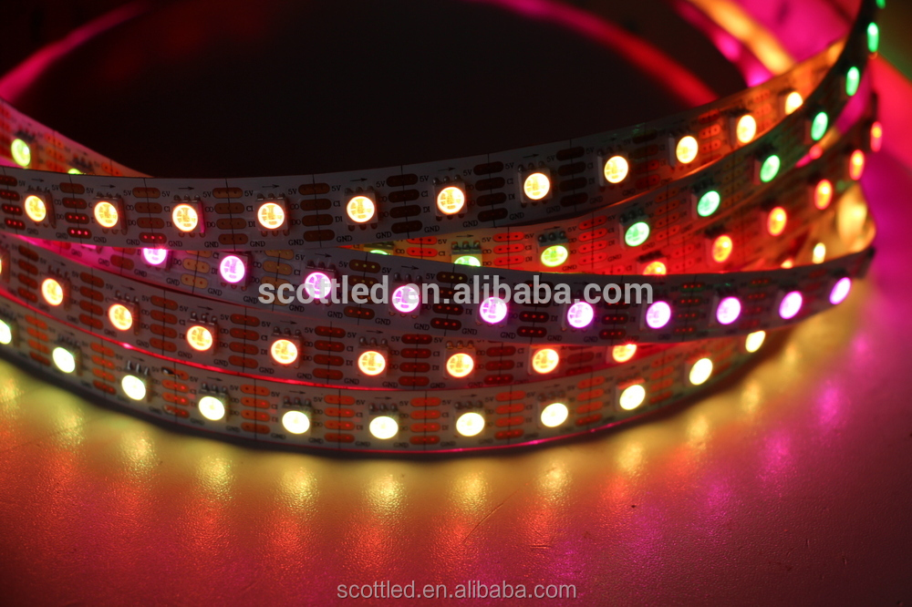 5m/roll addresable led strip APA102 5050 LED with 72 pixels