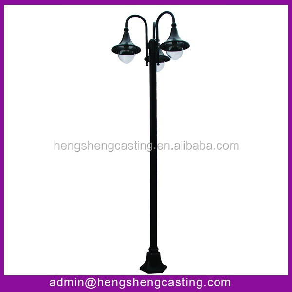 Special designed mid hinged galvanized street lighting pole drawing