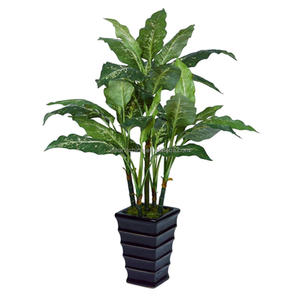 artificial plant 100cm aglaonema costatum big leaf evergreen plant