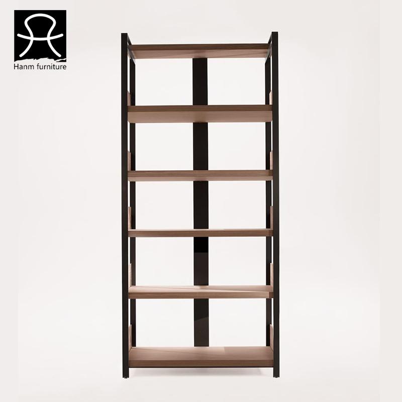 Modern Simple Wooden Bookshelf Strong Oak Wood Bookcase