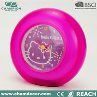 Round plastic table clock