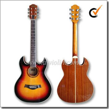 40 double cutaway sunburst acoustic guitar af4a8dce view sunburst guitar aileen or oem. Black Bedroom Furniture Sets. Home Design Ideas