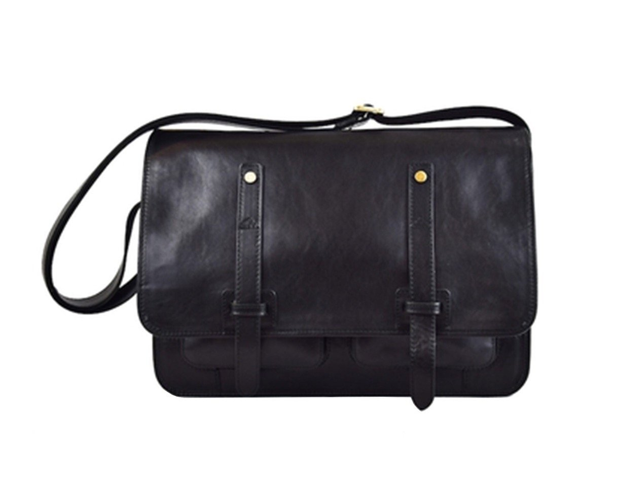 Get Quotations Misaro Italian Made Leather Messenger Bag