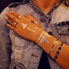 gold & silver & black jewelry metallic flash tattoos