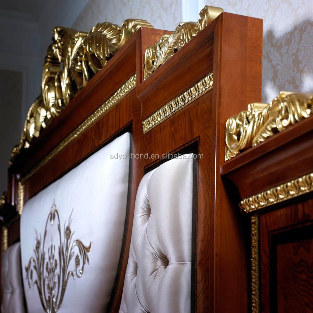 0038 europese klassieke massief houten slaapkamer meubilair, hoge ...