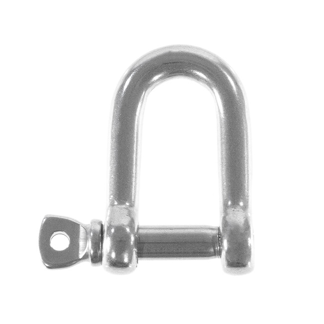 Stainless steel 316 12mm D shackle