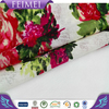 100% Polyester knitted printed slub fabric
