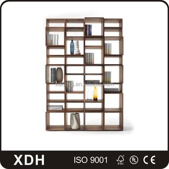 Antique Style Wooden Heavy Duty Bookshelf School Library Bookcase