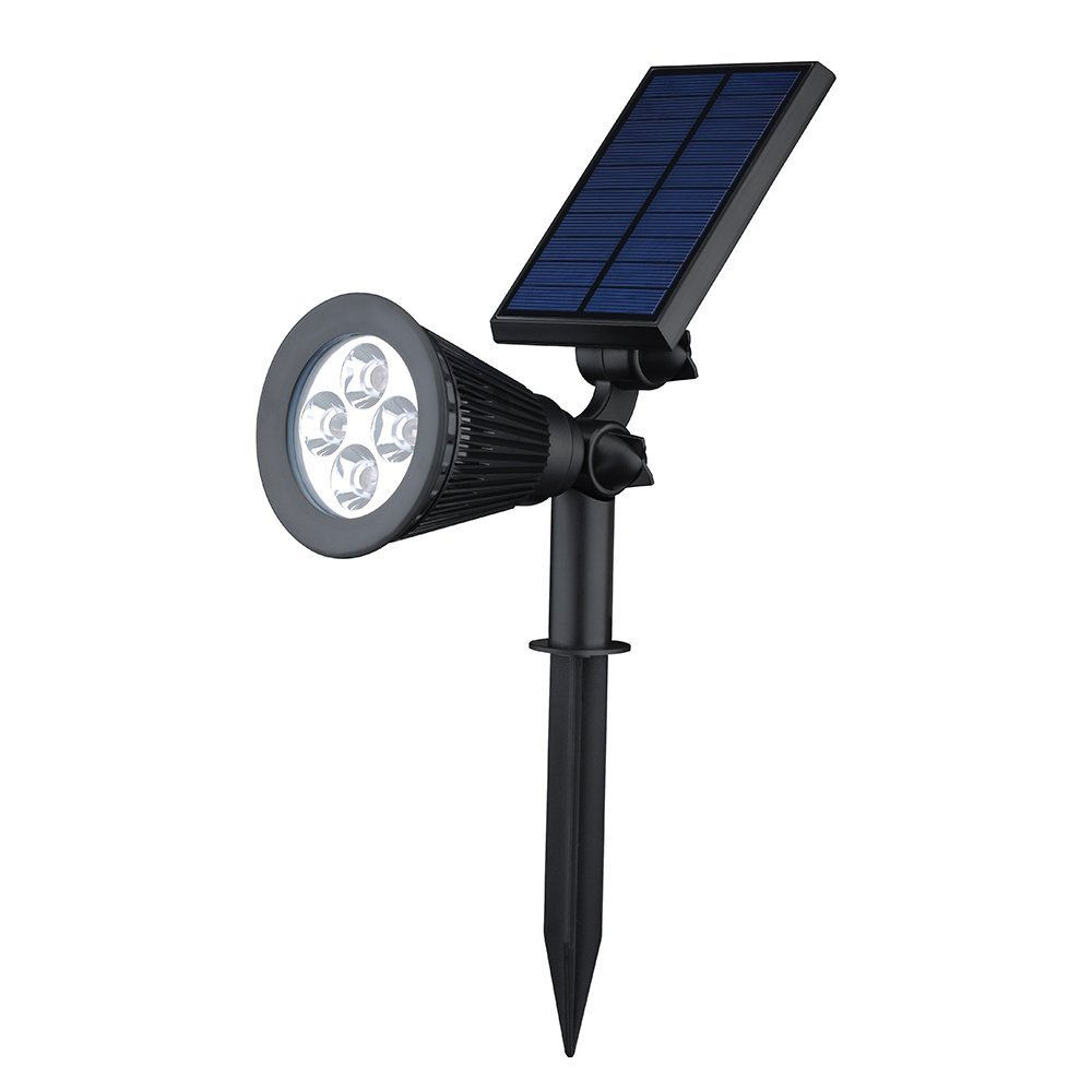 Ultra Bright Waterproof Outdoor Solar Spot light with Auto On/Off Function for Lighting Flag Pole Landscape Yard Garden