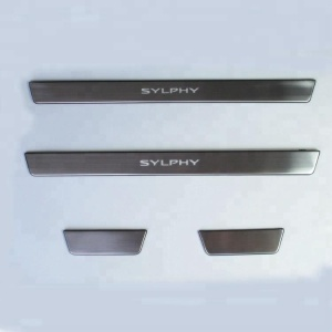 LED Blue LIGHT Illuminated DOOR SILL Scuff PLATE for Sylphy