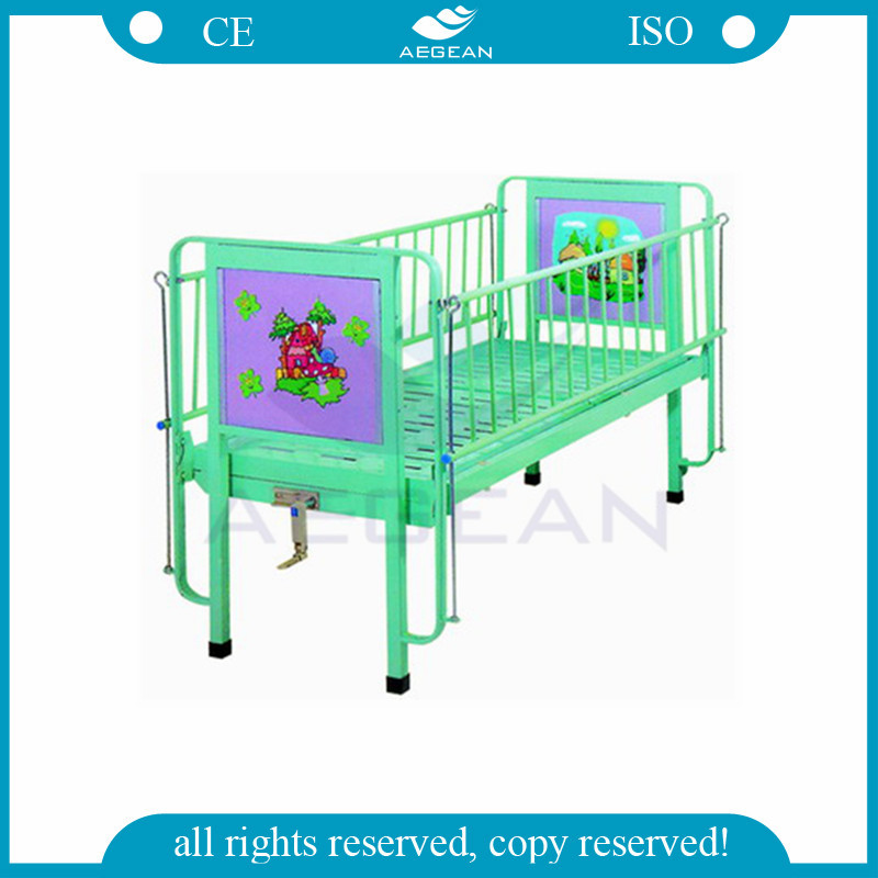 AG-CB002 No wheels flat medical children furniture mechanical hospital cot