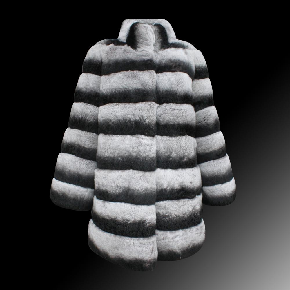 Compra Abrigo de piel de chinchilla rex online al por