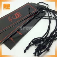 China custom folded printing jewelry cardboard clothing folded hang tags for jeans