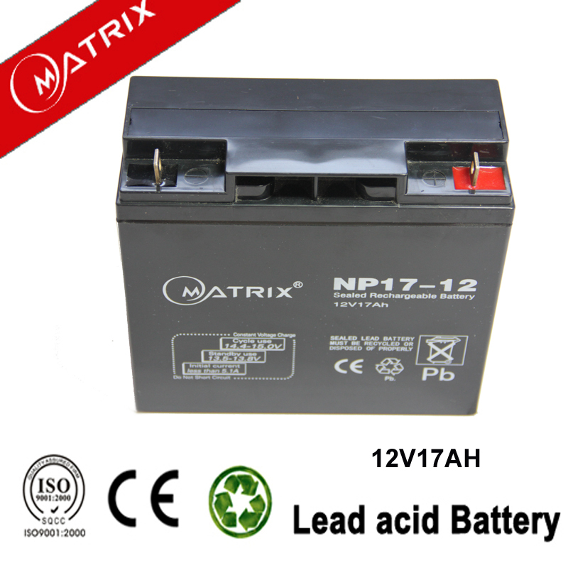 12v 17ah sealed rechargeable superior agm backup power battery