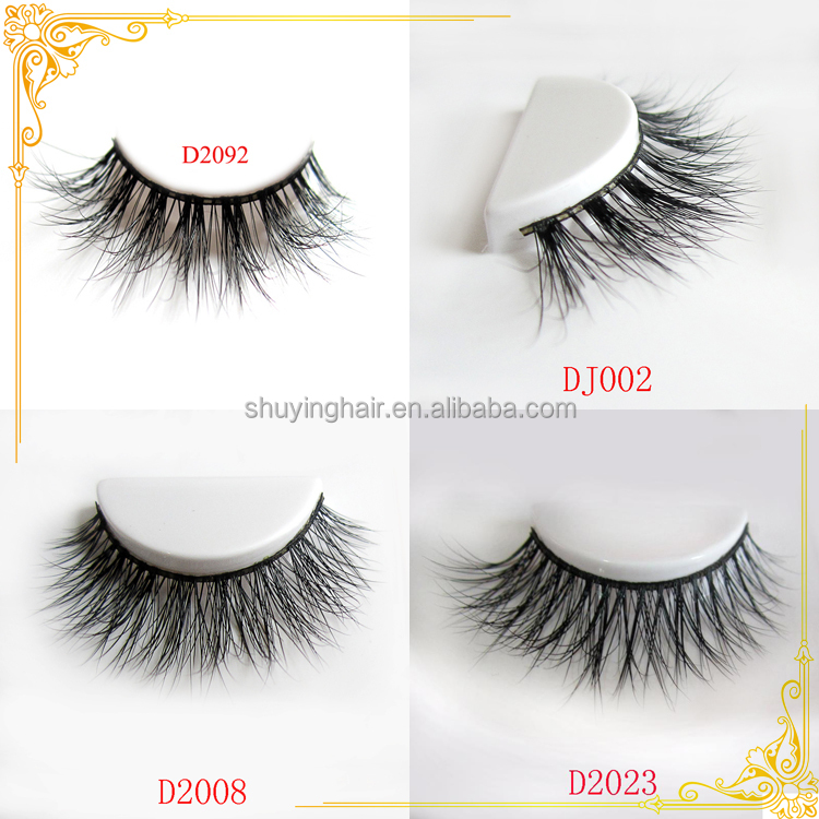 3D real mink strip eyelash realistic false eyelash with private label packaging eyelash