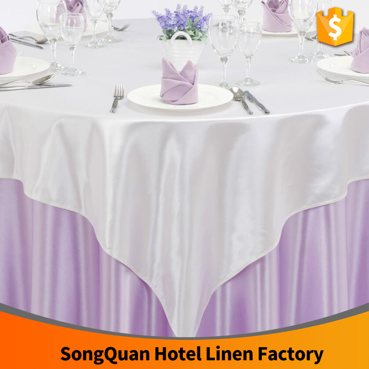 Good quality round unique satin table cloth for wedding decoration