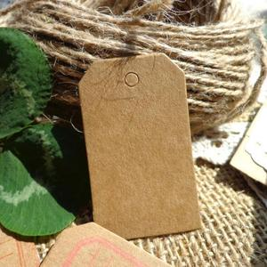 Hot 100 Pcs/pack 5x3cm Kraft Paper Tags Brown Paper Label Bookmark Note DIY Blank Price Hang Krafts Gift
