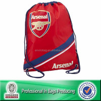 Cheap recycled 210d polyester backpack sport drawstring bag waterproof bag