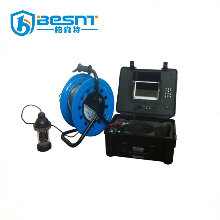 BESNT top 1 Wooden box package 200m deep well camera 7inch color LCD under water camera BS-ST33D