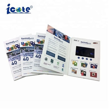 "Cote Lcd Transparent Display Video Brochure 2.4"" Video For Invitation"