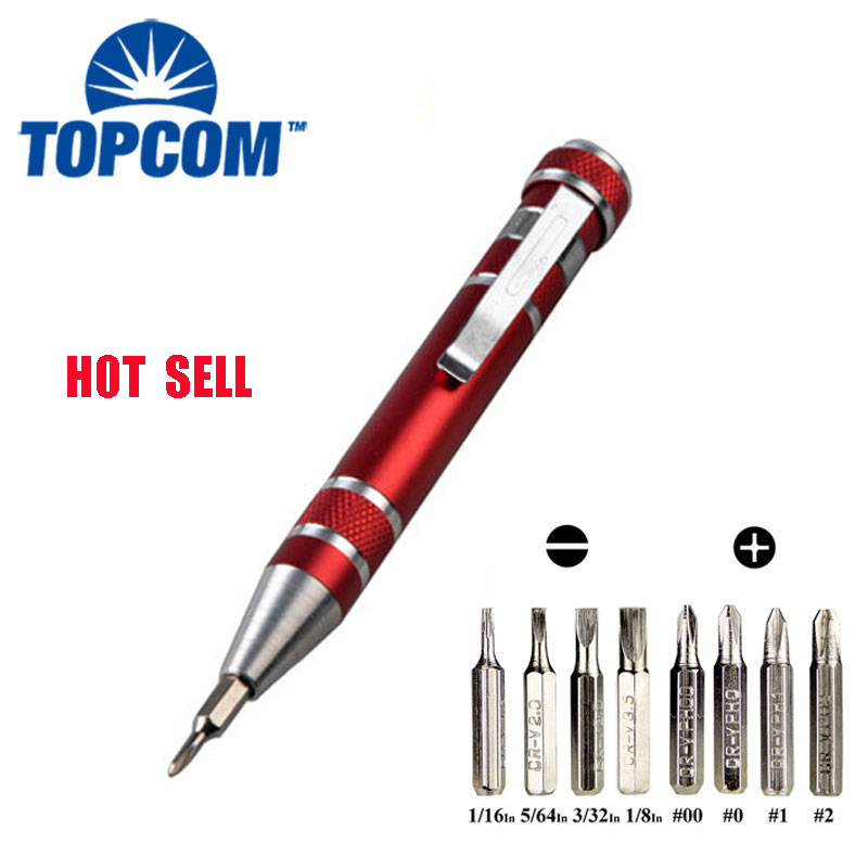 Pocket Magnetic 8 in 1 Precision Multi Screwdriver Set Pen Tool with magnetic