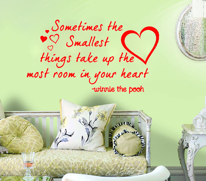 Winnie The Pooh Quotes Sometimes The Smallest Things: The Smallest Things In Heart Winnie The Pooh Say Quote