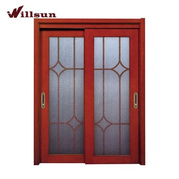 Willsun China Style French Sliding Doors Interior For Closet Entry