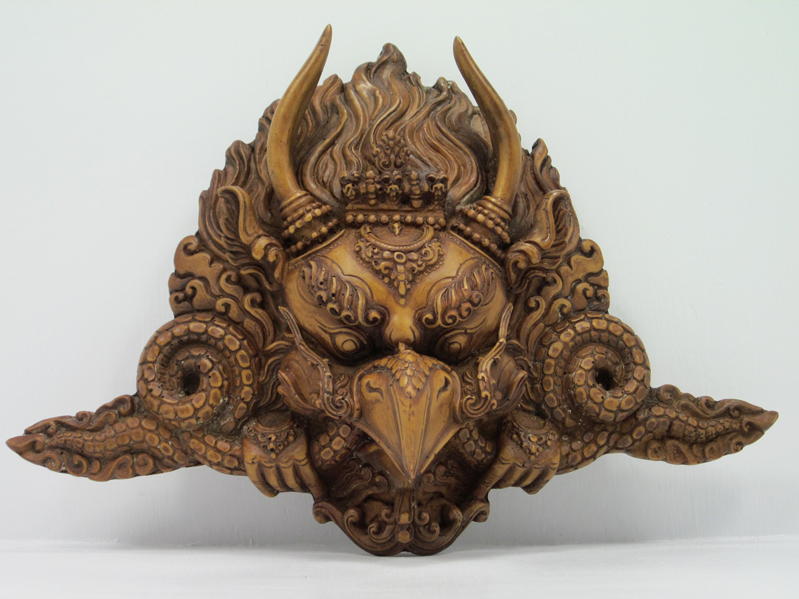 joliefran AKA Ngawang Lhamo Large & Beautifully Detailed Resin Garuda Mask from Nepal