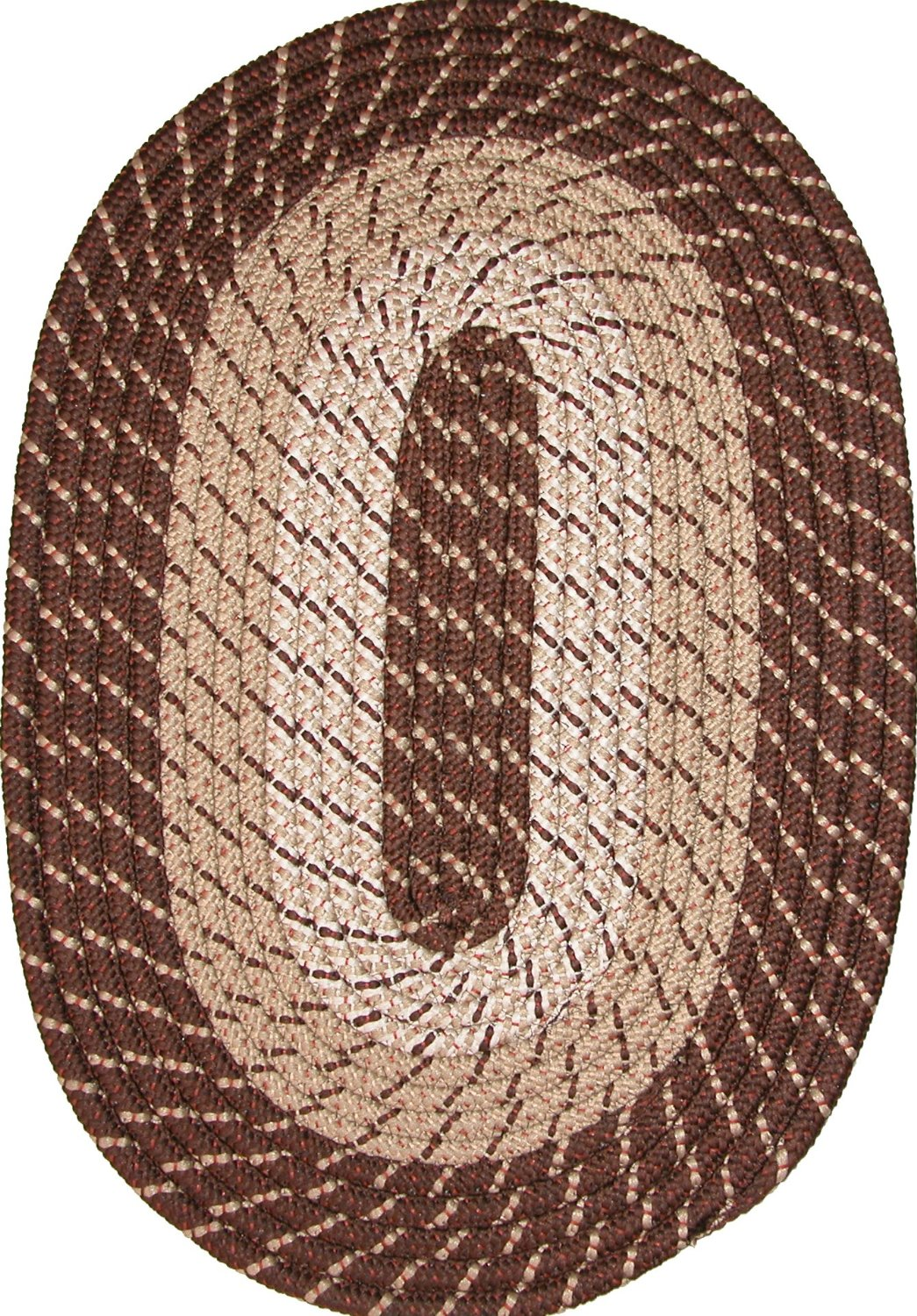 "Plymouth 22"" x 108"" (Runner) Braided Rug in Brown"