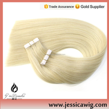New Products Unprocessed Virgin hair extensions, Silk Straight Tape Hair Extension Human Hair
