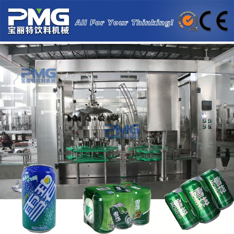 Aluminum can filling machine for beer / carbonated beverage
