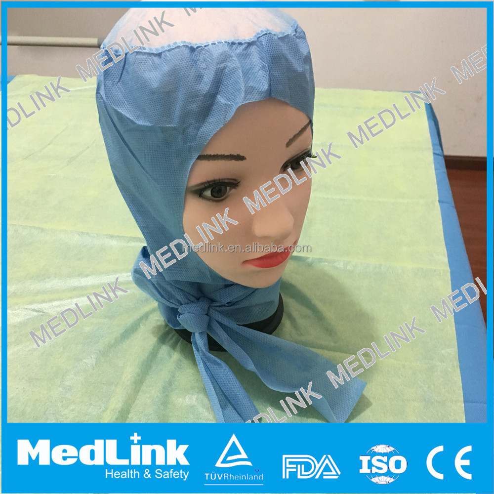 disposable hypoallergenic nonwoven surgeon head cover with full protection