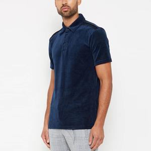 ae746756905 short sleeve custom embroidery logo velour longline plain blank navy velvet t  shirts guangzhou polo shirts