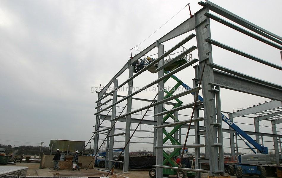 Pr construction en acier galvanis portail b timent for Construction maison industrielle