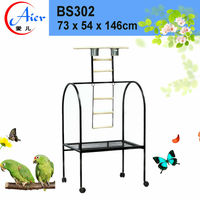 Chinese design stainless steel bird stand parrot cage