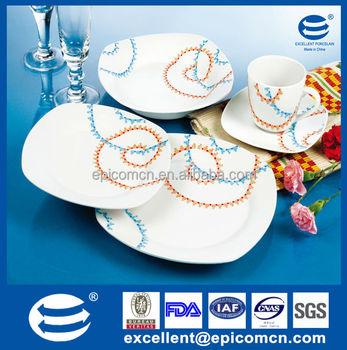 2015 wholesale Asian style dinnerware blue and orange ceramic square dinnerware set restaurant porcelain  sc 1 st  Alibaba & 2015 Wholesale Asian Style DinnerwareBlue And Orange Ceramic Square ...